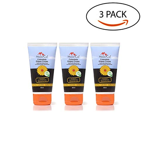 Diaper Rash Cream [Mommy Care] Organic Calendula Natural and Gentle Baby Paste Certified Organic Ingredients Safe, Soothing, Prevents Rash. Use Daily for Newborn Babies. (Pack of 3) 3X2.7 oz.