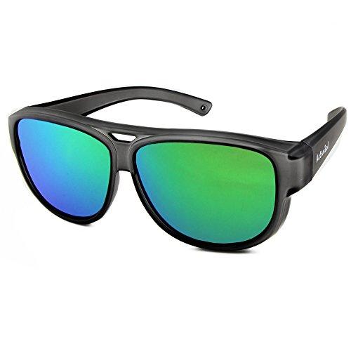 SOL de Sol sol Sobregafas UV400 DE SOBREGAFAS Gafas espejo 24 Active gramos diseño con de Negro aviador de polarizadas protección BPtqIw