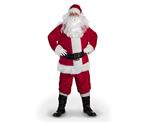 (Sunnywood Men's Value Line Santa Claus Costume, Red/White, Large)