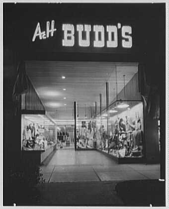 HistoricalFindings Photo: A. & H. Budd's Business,Lincoln Road,Miami Beach,Florida,FL,Clothing ()