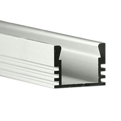 3.28 ft. Anodized Aluminum PDS4-ALU Channel - For LED Tape Light - Klus B1718ANODA