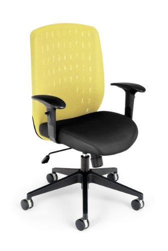 OFM Vision Executive Chair - Mesh Back Work Chair, Buttercup Yellow (654-2711)