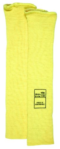(MCR Safety 9372E Kevlar Economy Weight 36 Gauge Sleeve, Yellow, 12-Inch)