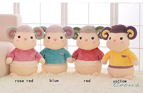 Coeus 1 Pcs Toys Cute & Lovely Bedtime Plush Animal /Huge Plush Toy Soft Doll,the Best Gift for Kids/children/girlfriend, Soft Stuffed Plush Toy -Sheep,14.2 Inch / 36 Cm