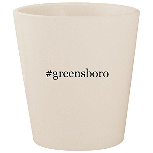 #greensboro - White Hashtag Ceramic 1.5oz Shot -