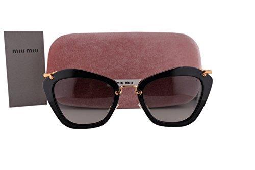 78e859348773 Image Unavailable. Image not available for. Colour  Miu Miu MU10NS Sunglasses  Black w Gray Gradient Lens 1AB3M1 MU 10NS For Women