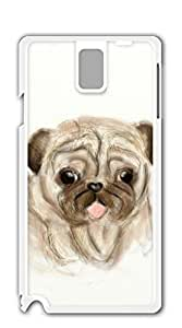 TUTU158600 Hard Back Shell Case Cover case for samsung galaxy note 3 for girls - Pug3