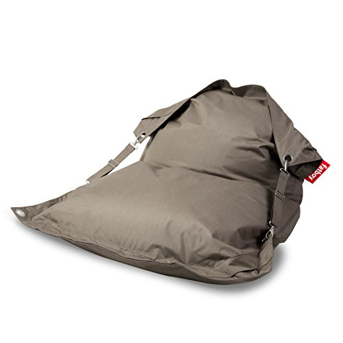 Fatboy Buggle-Up Indoor Outdoor Bean Bag Lounge Chair, Sandy Taupe