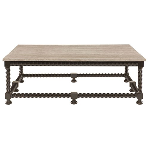 Fiori French Country Barley Twist Ebony Coffee Table - Wood Barley Twist
