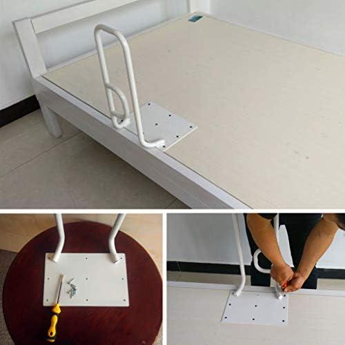 高齢者用ベッドレール、ベッドへの安全取り付け、ベッドサイド手すりスタンドアシスト、 白