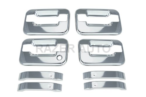 Razer Auto 2004-2014 FORD F150 CHROME DOOR HANDLE COVER 4D W/O PASSENGER - Door 4d Handle Chrome