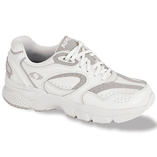 Apex Women's Lace Walker-X-Last Sneaker, White, 8.5 Medium - Footwear Aetrex