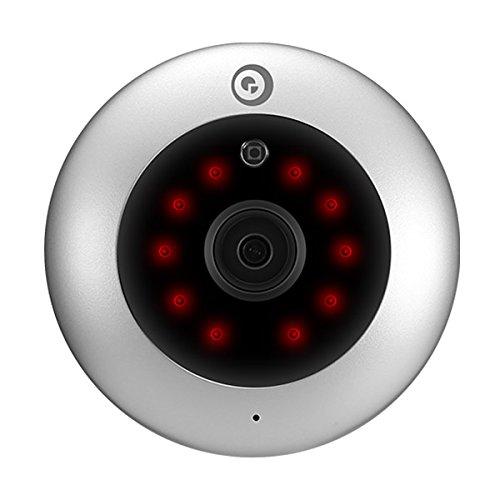 Digoo DG-UFC H.265 HD 1080P 2.8mm 180 Degree Wireless WIFI Night Vision Smart IP Security Camera(silver)