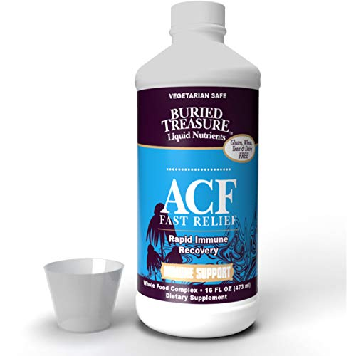 Buried Treasure ACF Advanced Immune Response with 1,000 mg Vitamin C, Elderberry, Echinacea and Herbal Blend for Daily…