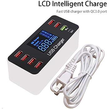 Amazon.com: Multiple USB Charger, 60W/12A 8-Port Desktop ...