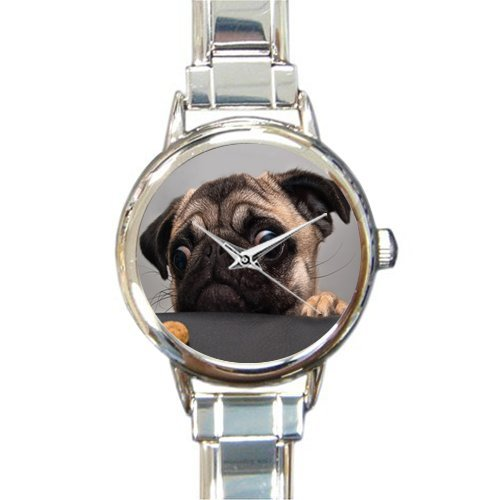 Hot Sale Christmas Gift Watch Lovely Sharpei Dog Round Italian Charm stainless steel Watch Dogs Womans Italian Charms