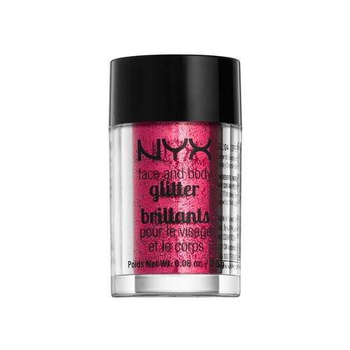 NYX Cosmetics Face & Body Glitter Red