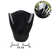 FZ 07 Windscreen Deflector Shield with Clamp Tinted Windshield with Bolts Bracket for Yamaha FZ-07 2014 2015 2016 2017