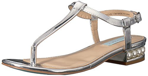 Blue by Betsey Johnson Womens SB-Evie Dress Sandal Silver Foil