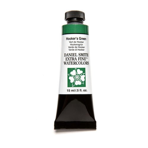 Smith Ink Daniel (Daniel Smith Extra Fine Watercolor 15ml Paint Tube, Hooker's Green)