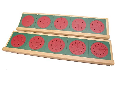 Montessori Metal Fraction Circles with Stands by PinkMontessori by pinkmontessori (Image #1)