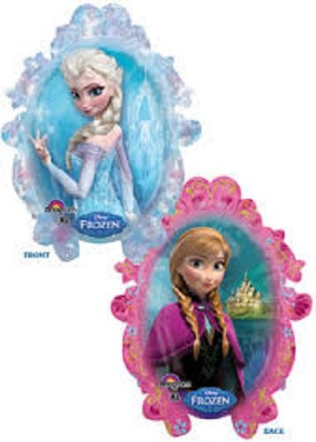 XL 31 Frozen Anna & Elsa Disney Super Shape Mylar Foil Balloon Party Decoration by Anagram