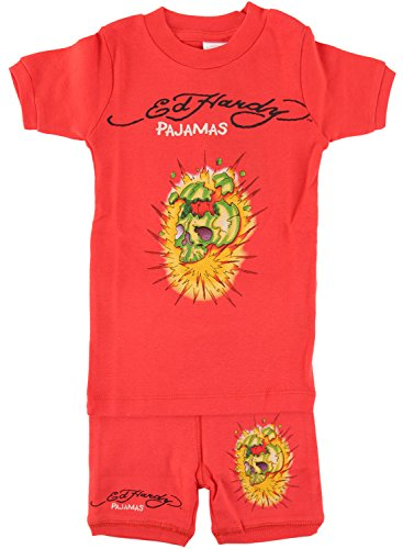 Ed Hardy Pajama Set for Toddlers - Red Ed Hardy Baby Clothes
