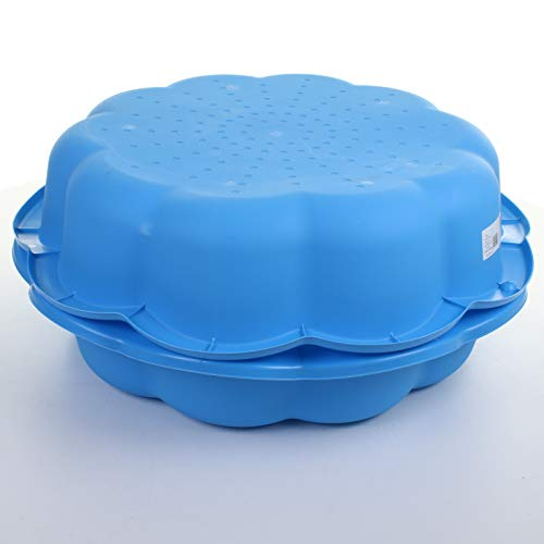 75cm Sand Pit Paddling Pool Blue Plastic Outdoor Garden Kids Childrens Toy Play Water (Set of 2)