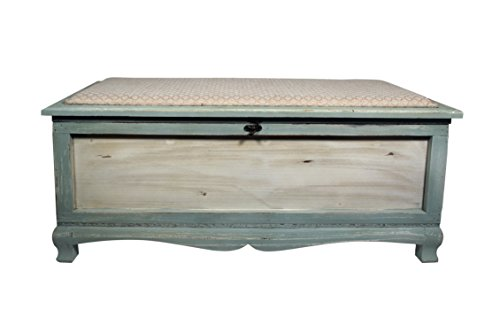 Cheung's FP-3303 Shabby Bench Chest with Seat Cushion