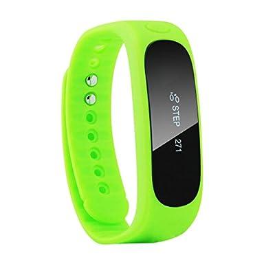 DIZA100 E02 Wireless Bluetooth Activity and Sleep Pedometer Bracelet Smart Fitness Tracker Wristband - Green