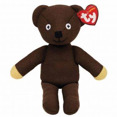 Plush Teddy Mr Bean Bear (Cute Mr Bean Knitted Beanie Bear by Ty)