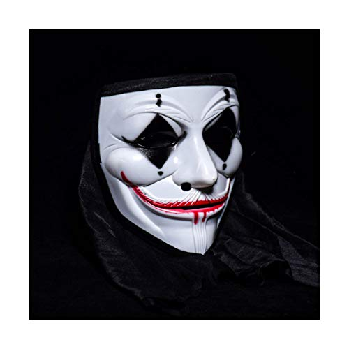 BUY-TO Halloween Mask Costume Party Clown Props Scary Horrible Masquerade for Adult,Black