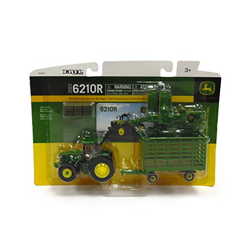 Ertl Collectibles John Deere 6210R Tractor Baling Set
