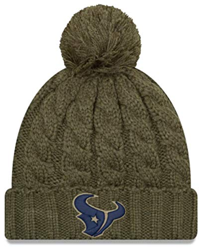 e08b99b66 Houston Texans Cuffed Knit Hats. New Era Women 2018 Salute to Service  Sideline ...