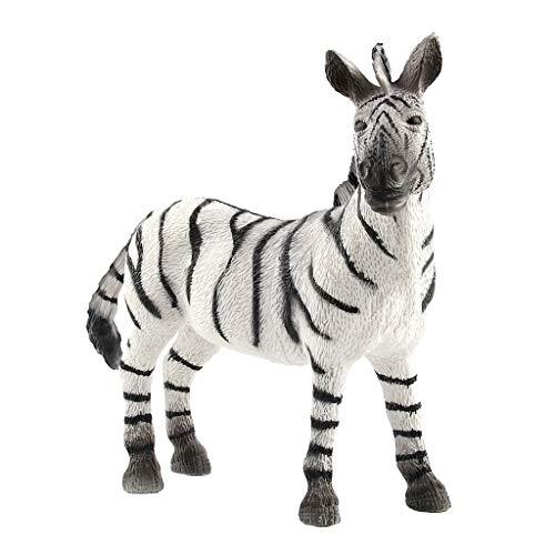 callm Zebra Model, Educational Science Zebra Animal Model Ornament Figurine Toy for Kids Gift ()