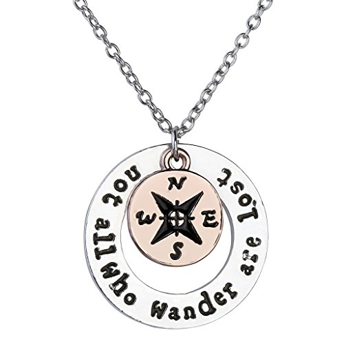 JOVIVI Silver Compass Inspirational Jewelry