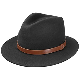 f1407ceb6a1e1e Brixton Teston Fedora Wool Hat Felt Men´s (62 cm - Light Grey):  Amazon.co.uk: Clothing