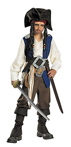 Child Jack Sparrow Deluxe Costume 7-8 Kids Boys Costume (Jack Sparrow Boys Costume)