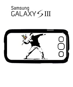 Banksy Flower Thrower Mobile Cell Phone Case Samsung Galaxy S3 Black by hollowden