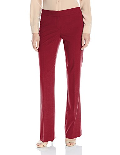 Nine West Women's Bi Stretch Modern Pant, Bordeaux, 12 ()
