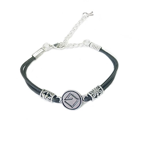 B C Gold Bracelets - AU 7 9 C O SEVENINE CO. Sunset Beaded Waxed Cotton Surf Friendship Bracelet (Black Leather Cord with Silver Floral Stainless Steel Beads)
