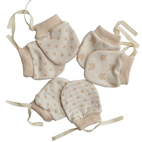 (Scratch Free Newborn Mitten Organic Cotton Mitts Baby Glove for Infant 0-6 Month Unisex)