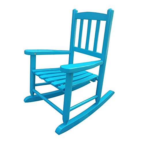 Rockingrocker - K031BU Blue Child's Rocking Chair/porch Rocker - Indoor or Outdoor - Suitable For 1-4 Years Old