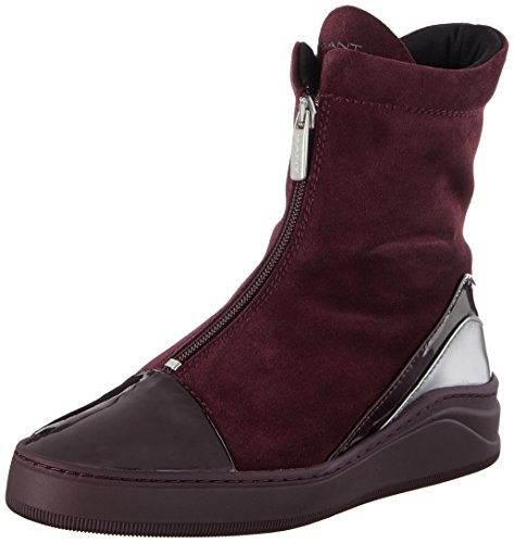 Malou Wine G504 Red Femme Bottines Rouge Gant dq8x0fd