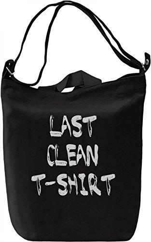 Clean Tshirt Borsa Giornaliera Canvas Canvas Day Bag| 100% Premium Cotton Canvas| DTG Printing|
