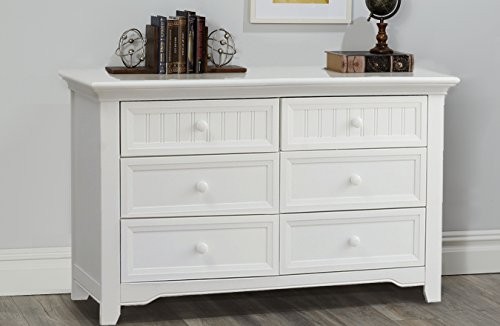 (Suite Bebe Winchester 6 Drawer Double Dresser White)