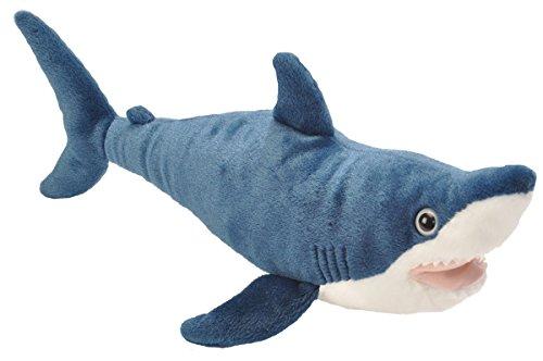 Wild Republic Mako Shark Plush, Stuffed Animal Toy, Gifts for Kids, Cuddlekins, 15 Inches
