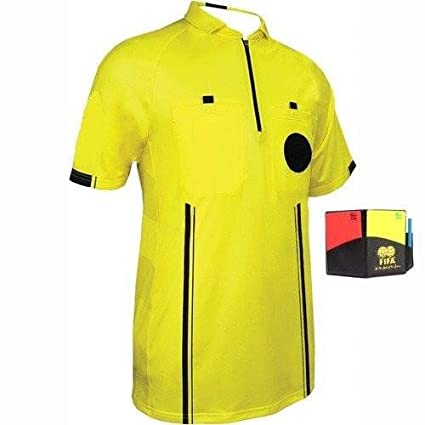 1 Stop Soccer New Mens USSF Soccer Pro Referee Jersey Yellow Free Wallet  Men Small  ae30b5ca8