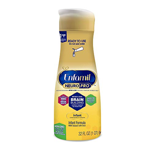 - Enfamil NeuroPro Ready to Feed Baby Formula Milk, 32 fluid ounce - MFGM, Omega 3 DHA, Probiotics, Iron & Immune Support
