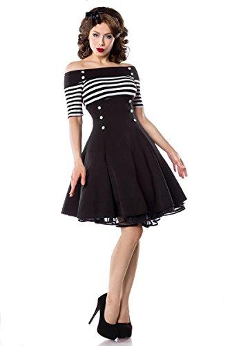 Weiß Vintage Stripe Kleid Atixo Schwarz x41qw7wY